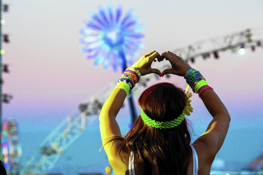 """""""Under the Electric Sky"""" follows some festival goers around last year's Electric Daisy Carnival."""