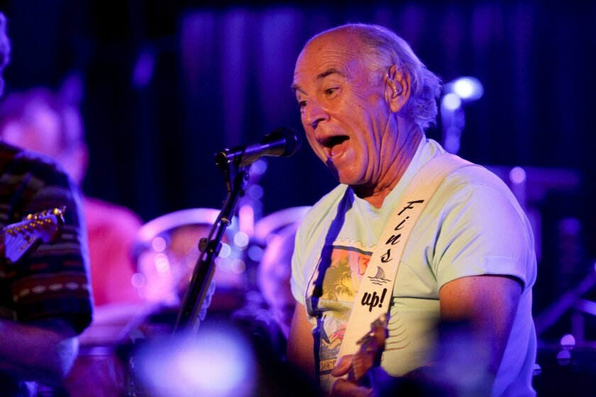 Jimmy Buffett sings at the Belly Up Tavern.