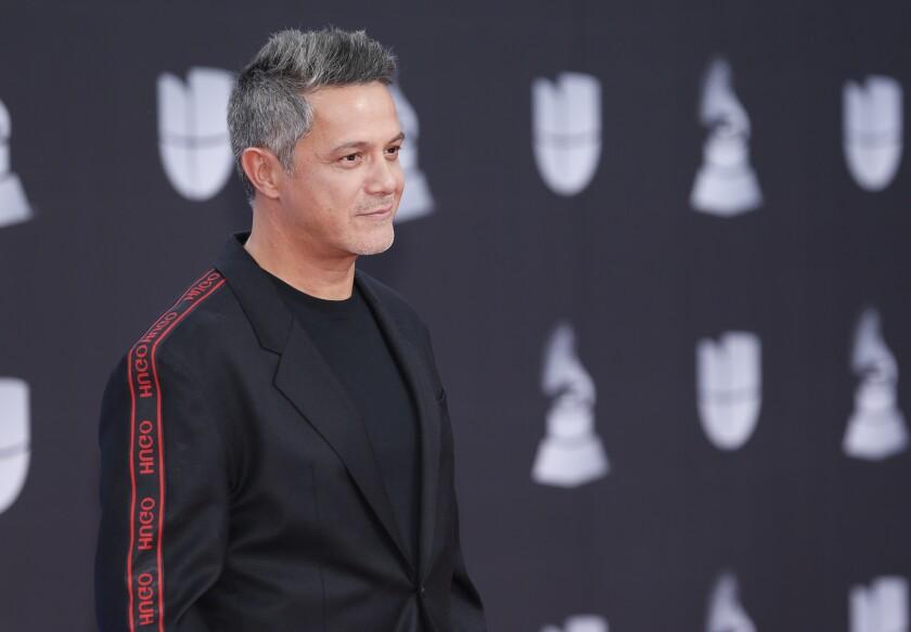 Alejandro Sanz llega a la 20ª entrega del Latin Grammy el 14 de noviembre de 2019