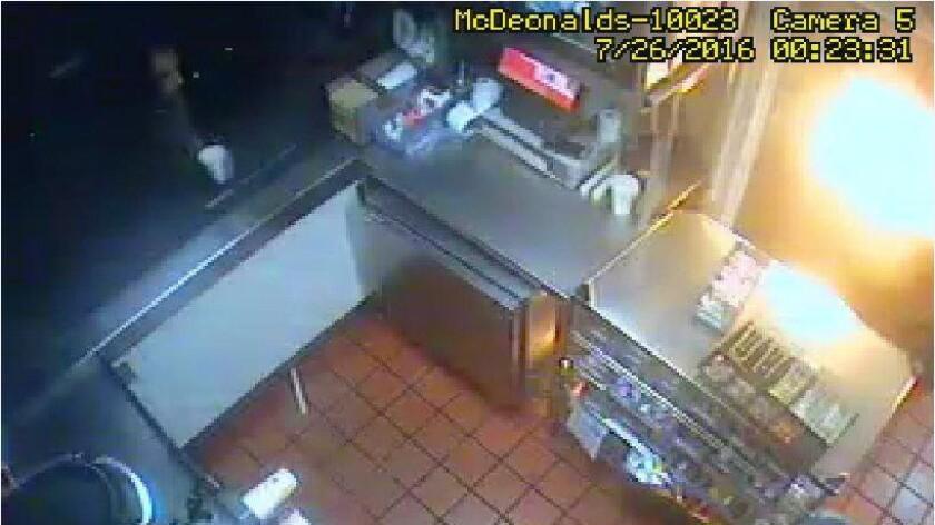 Urine thrown at McDonald's employee