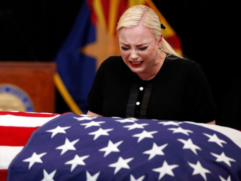 Meghan McCain, daughter of Sen. John McCain, during a memorial service at the Arizona Capitol in Phoenix on Wednesday.