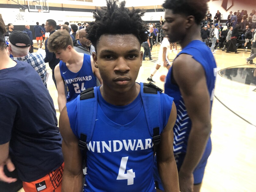Dylan Andrews of Windward finished with 28 points on Saturday to help his team defeat Heritage Christian 73-70 in overtime. Skyy Clark had 35 points for Heritage Christian.