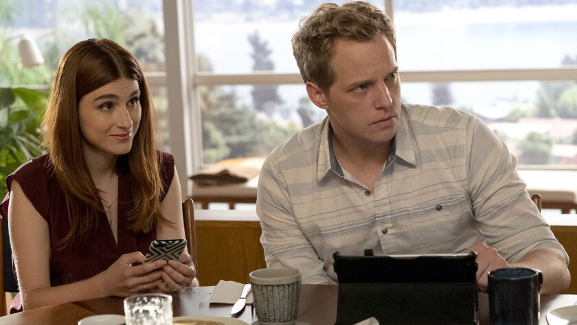 """Aya Cash and Chris Geere star in a new episode of """"You're the Worst"""" on FXX."""