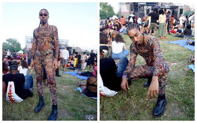 Brenton Williams at Afropunk in Brooklyn, N.Y.