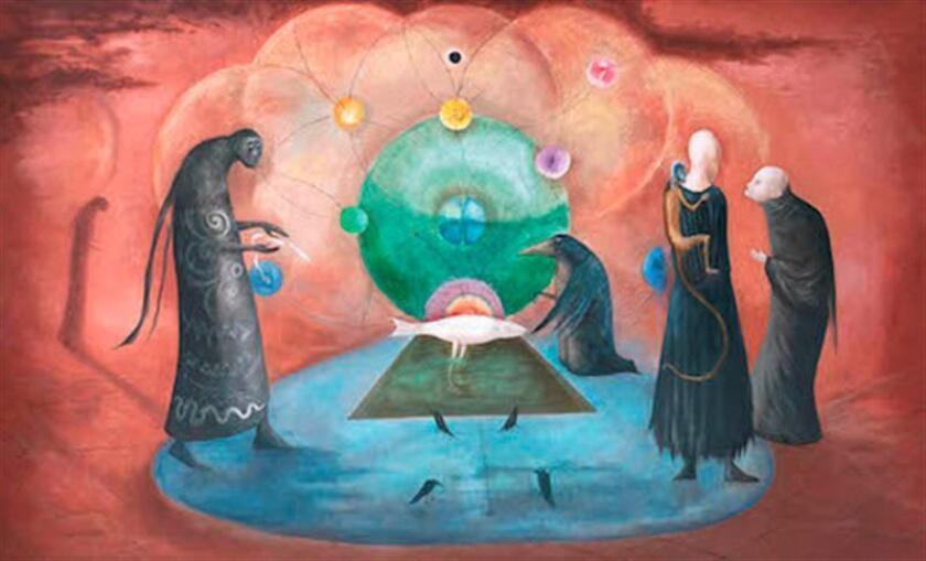 """La obra """"Virginia's Fish"""", de la pintora surrealista mexicana de origen británico Leonora Carrington (1917-2011), fue vendida esta noche en 15,4 millones de pesos (825.295 dólares) en la Subasta de Arte Latinoamericano de la casa Morton. FE/CASA MORTON/SOLO USO EDITORIAL/NO VENTAS"""