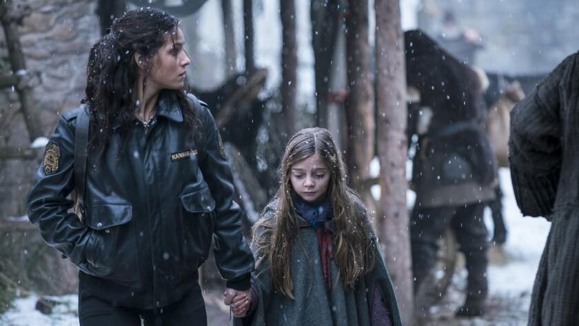 "Adria Arjona, left, and Rebeka Rea in ""Emerald City"" on NBC."