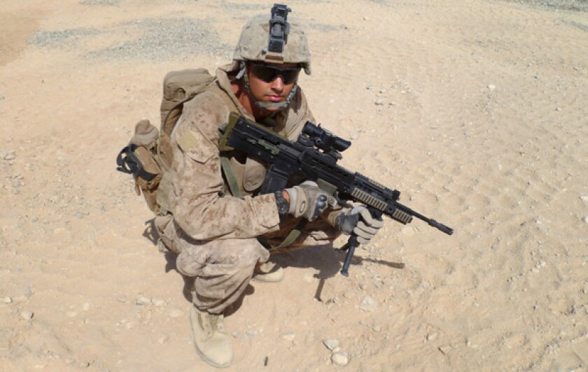 Nick Francona, who served as the commander of a Marine Corps scout-sniper platoon while in Afghanistan in 2011, began last baseball season in charge of video operations for the Angels.