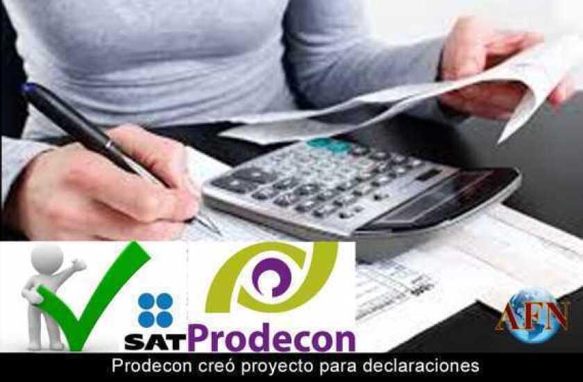 Prodecon creó proyecto para declaraciones