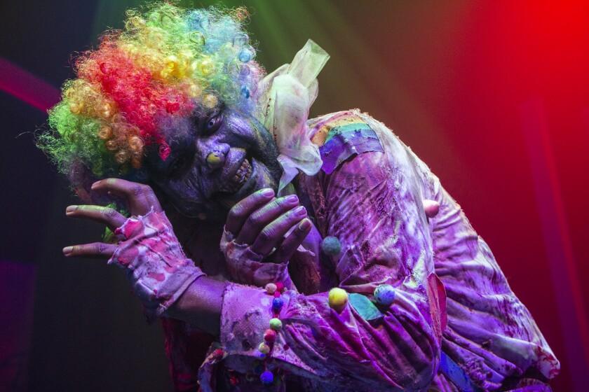 Splatz the clown at the SeaWorld Mission Bay Theater