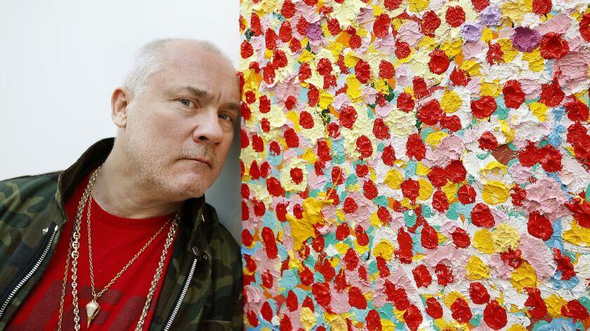 BEVERLY HILLS, CA., MARCH 1, 2018--British Artist Damien Hirst presents his latest series THE VEIL P