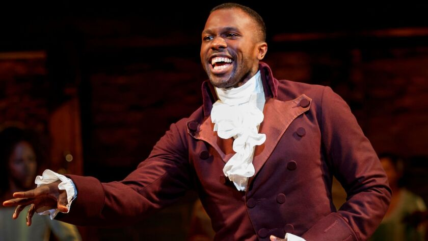 """Joshua Henry is Aaron Burr in the national tour of """"Hamilton."""""""