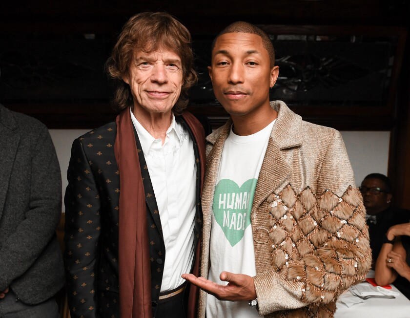 Mick Jagger and Pharrell Williams