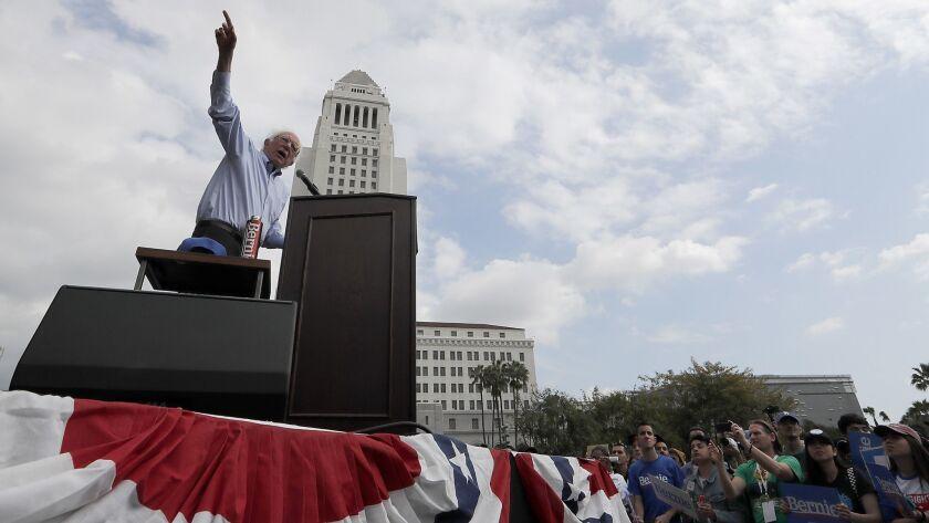 Bernie Sanders in L.A.