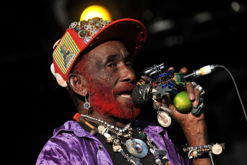 """Lee """"Scratch"""" Perry performs  in 2013."""