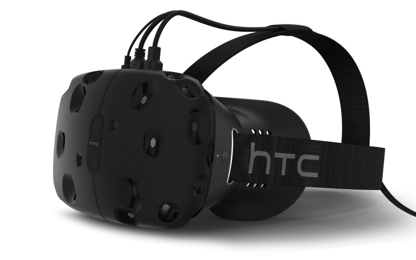 The HTC Vive virtual-reality headset could go on sale in the coming months. What people watch on the headsets could be up to start-ups such as WeVR, which HTC invested in.