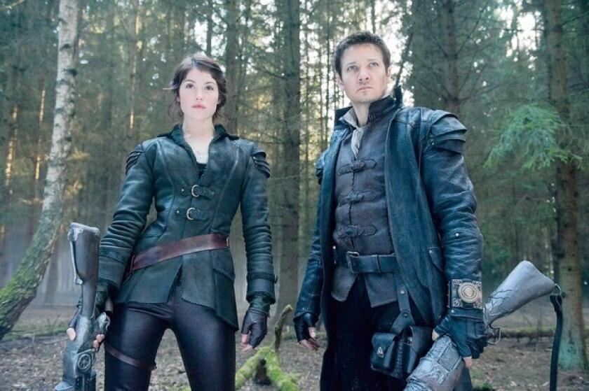 """Gemma Arterton is Gretel and Jeremy Renner is Hansel in """"Hansel & Gretel: Witch Hunters."""""""