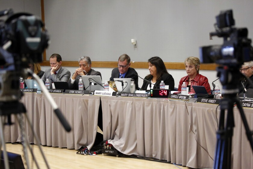 California Coastal Commissioners at a Commission hearing in February 2016.