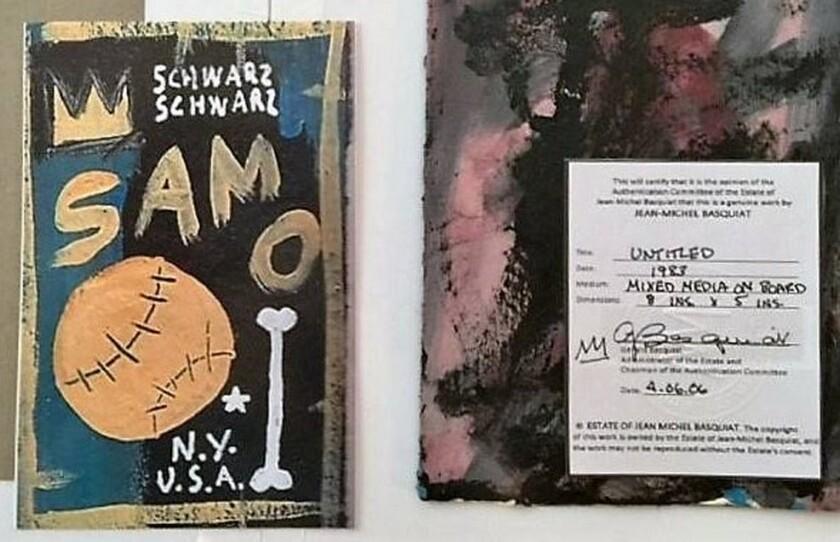 Fake artwork by the artist Jean-Michel Basquiat