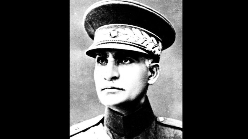 A mummified body discovered near the site of a former royal mausoleum in Iran has raised speculation that it could be the remains of Reza Shah Pahlavi, shown in an undated photo, the founder of the Pahlavi dynasty.