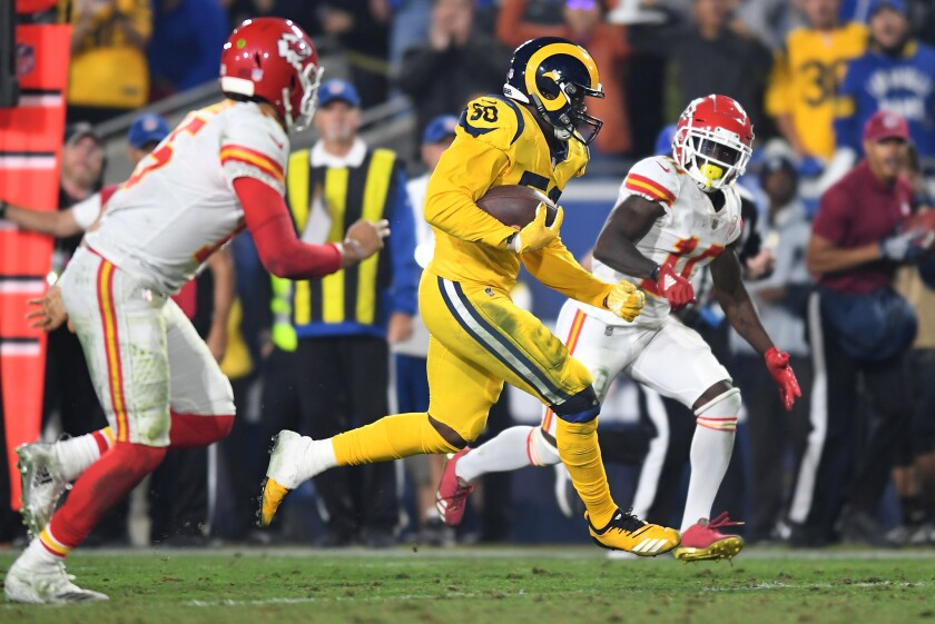d9a2684b Rams outduel Chiefs 54-51 in highest-scoring 'Monday Night Football ...