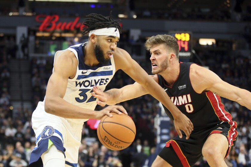 Wiggins Leads Wolves Past Heat 116 109 With Late 3 Barrage The
