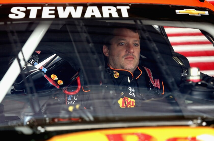 Tony Stewart will try to get his season on track at Talladega this weekend.