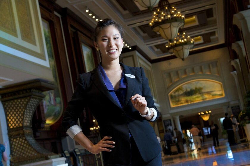 Shannie Lee, who started at the Manchester Grand Hyatt in 2010, helps oversee about 50 employees. NELVIN CEPEDA • U-T