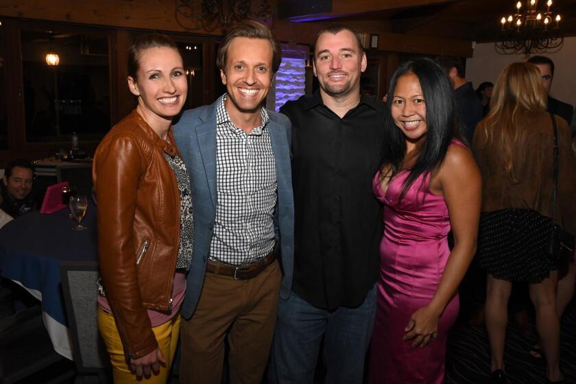 Dana and Corey Hanrahan (he's Team Hoyt San Diego founder/president), Orson Weston, Tania Zamora