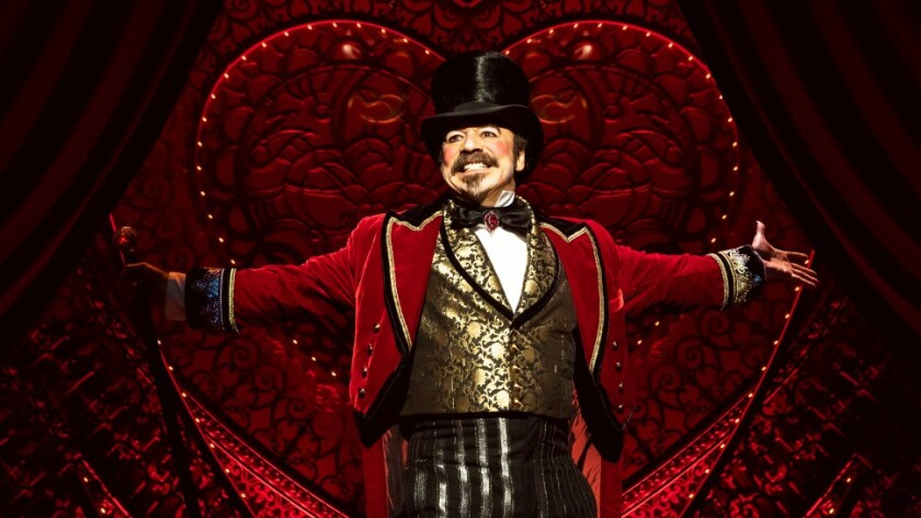 """UCSD grad Danny Burstein was awarded the Drama Desk League's Distinguished Performance Award for """"Moulin Rouge!"""" on Broadway."""