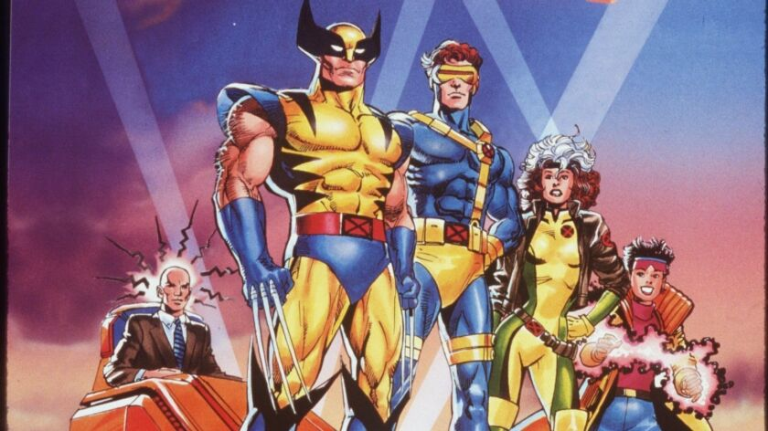 """Professor X, left, Wolverine, Cyclops, Rogue and Jubilee in """"X-Men: The Animated Series."""""""