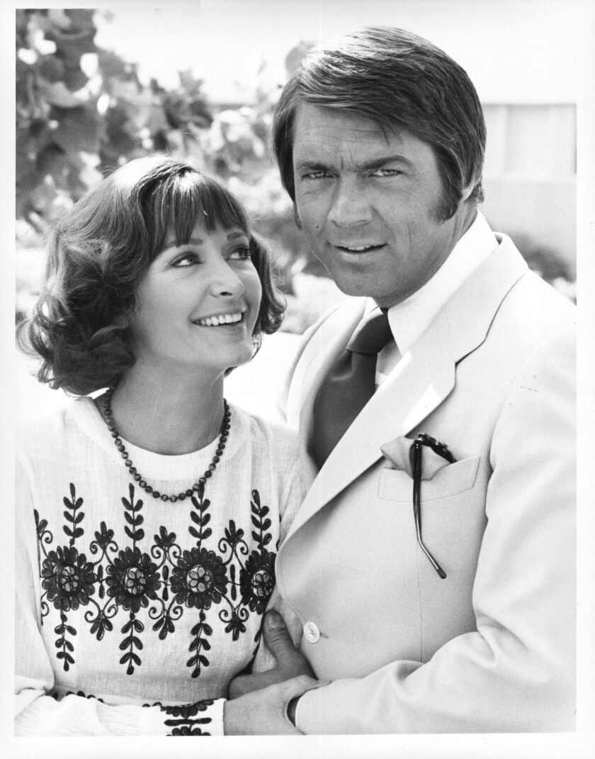 Chad Everett with his wife Shelby Grant.