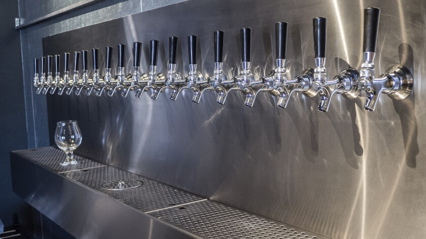 Taps at the soon-to-open Southland Beer store and bar in Koreatown.