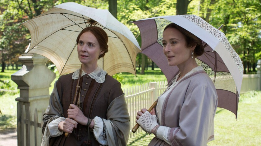 """Cynthia Nixon stars as Emily Dickinson and Jennifer Ehle is Vinnie Dickinson in """"A Quiet Passion."""""""