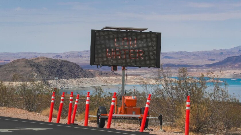 Water levels at the lake are at Lake Mead lowest level since it was filled in the 1930s.