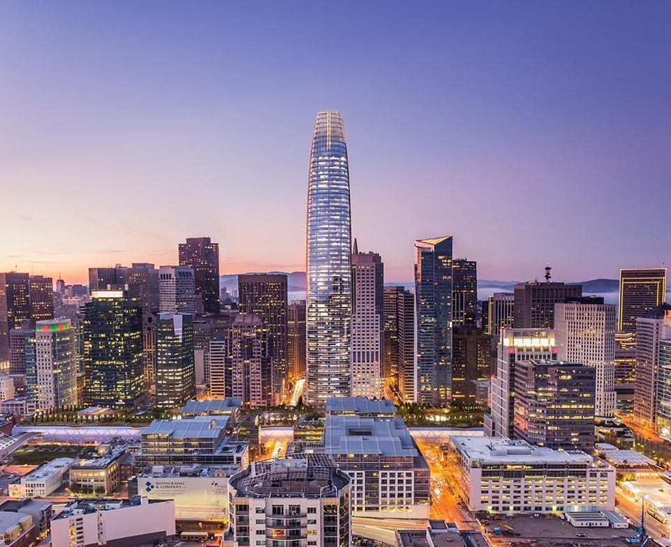 A rendering of Salesforce Tower in downtown San Francisco.