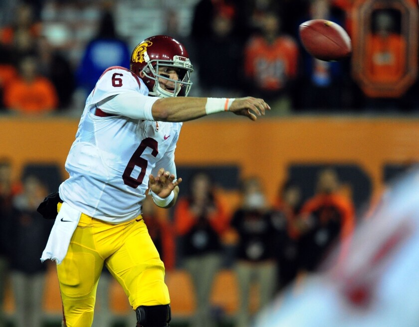 USC football: Cody Kessler keeps his poise after interception