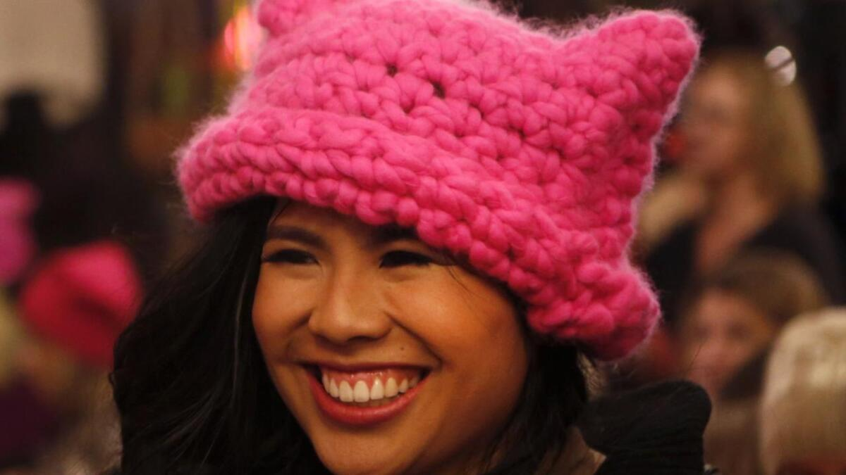d2c4d179 How these Los Angeles-born pink hats became a worldwide symbol of the  anti-Trump women's march - Los Angeles Times