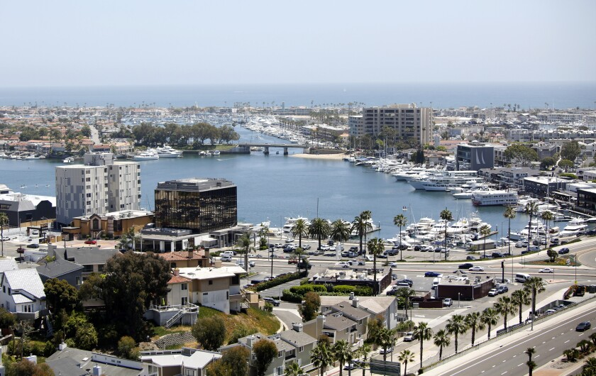 The view of Newport Harbor from Hoag Hospital in Newport Beach on May 15.