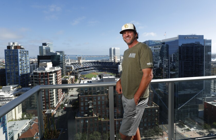 Tony DeSantis is one of the few people in San Diego who will be able to watch live Padres games, from his condo at The Mark.