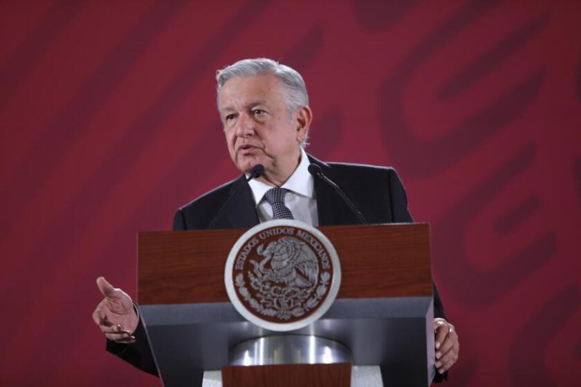 El presidente de México, Andrés Manuel López Obrador, habla en rueda de prensa en Ciudad de México (México). EFE/Archivo