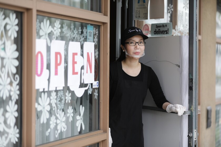 Yoonjin Hwang, owner of Spoon by H, has pivoted to takeout meals only during the coronavirus crisis.