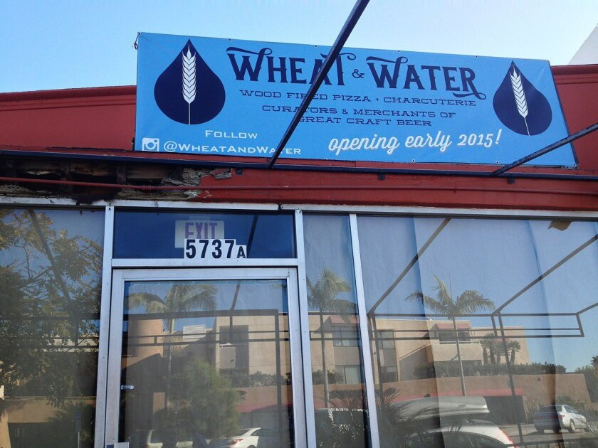 Wheat and Water will feature craft beer, artisan pizzas, appetizers and salads at 5737 La Jolla Blvd. in Bird Rock.