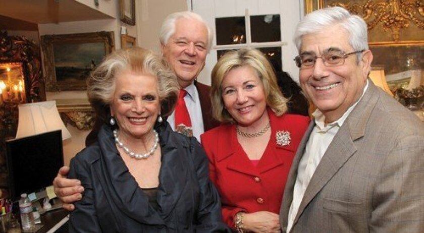 Connie and Bill McNally, Patricia and George Karetas (Photo: Jon Clark)