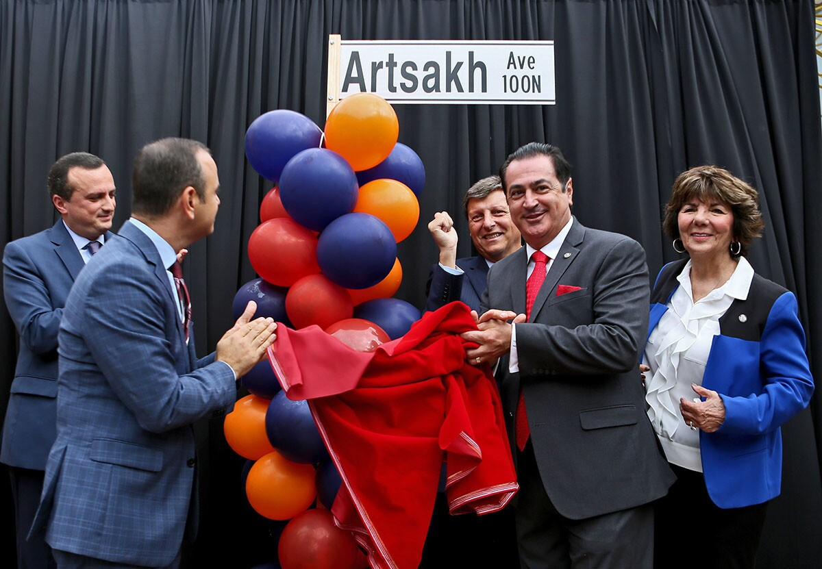 Photo Gallery: City of Glendale street name change historic; Maryland Ave. becomes Artsakh Ave.