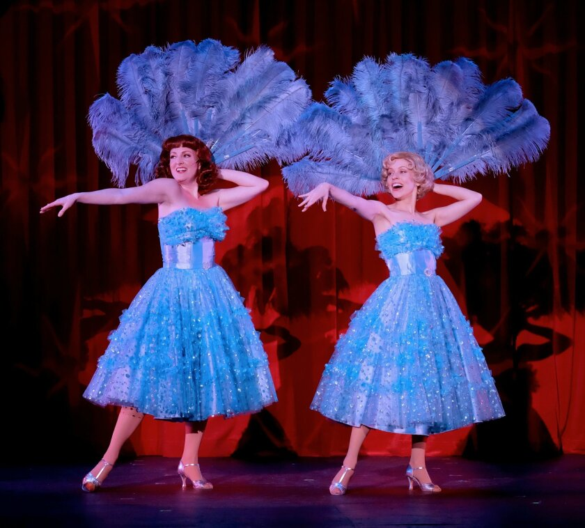 """Laura Dickinson (left) and Jill Townsend in the San Diego Musical Theatre production of """"Irving Berlin's White Christmas."""""""