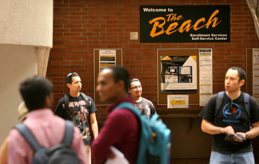 Cal State Long Beach students.