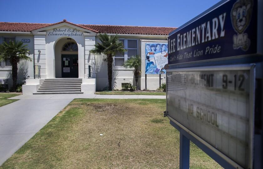 Robert E. Lee Elementary in Long Beach was renamed in 2016.