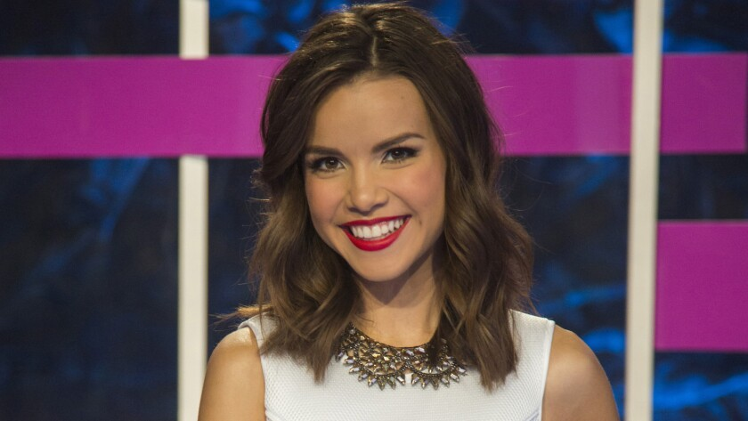 """Ingrid Nilsen in """"Project Runway: Threads"""" spinoff."""
