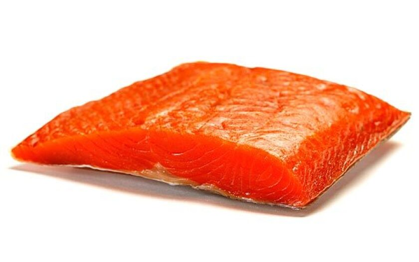 Gin-and-chive-cured salmon.