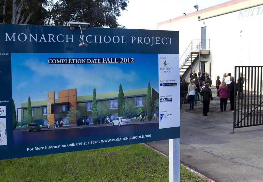 The Monarch School's new campus, at 1625 Newton Ave., will be five times larger than its current facility on West Cedar Street and will hold more than twice as many students.